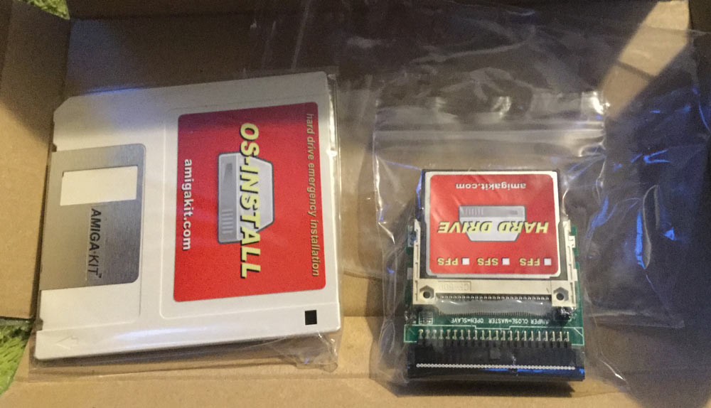 Installing a Compact Flash Drive in an Amiga A500