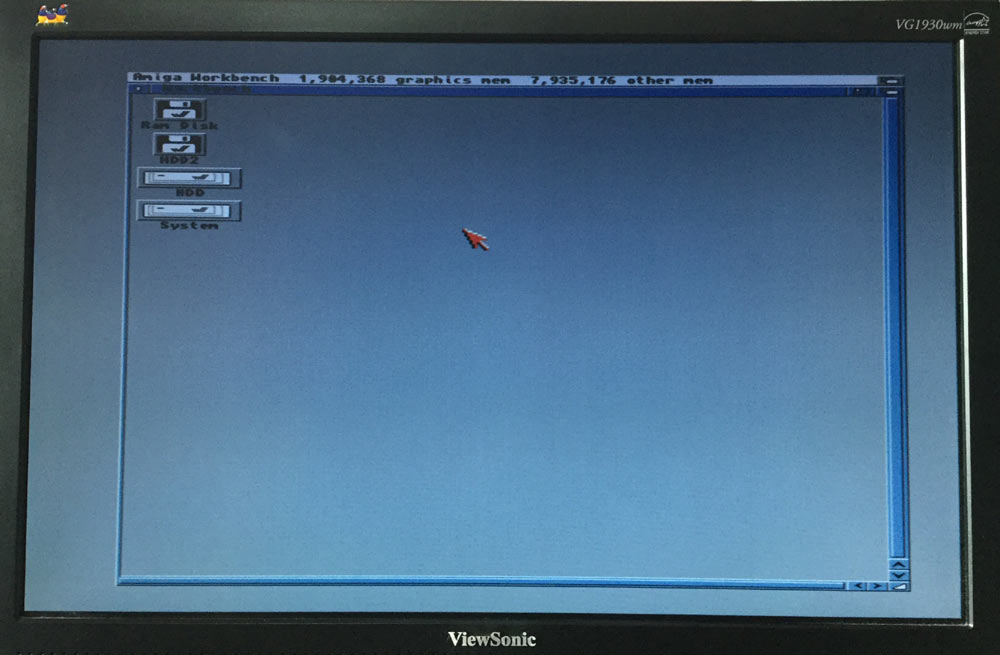 Workbench 3.1 Running on Amiga A500 with Compact Flash Drive