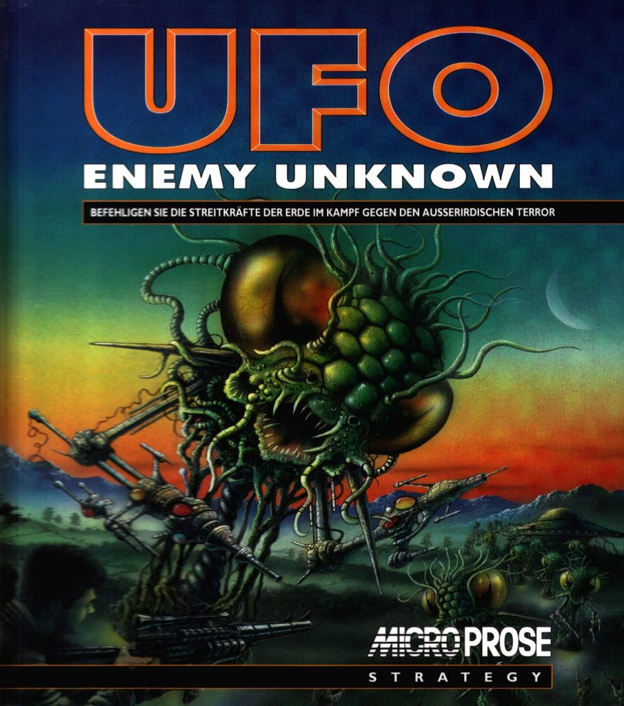 The insectoid terror of the UFO Enemy Unknown cover