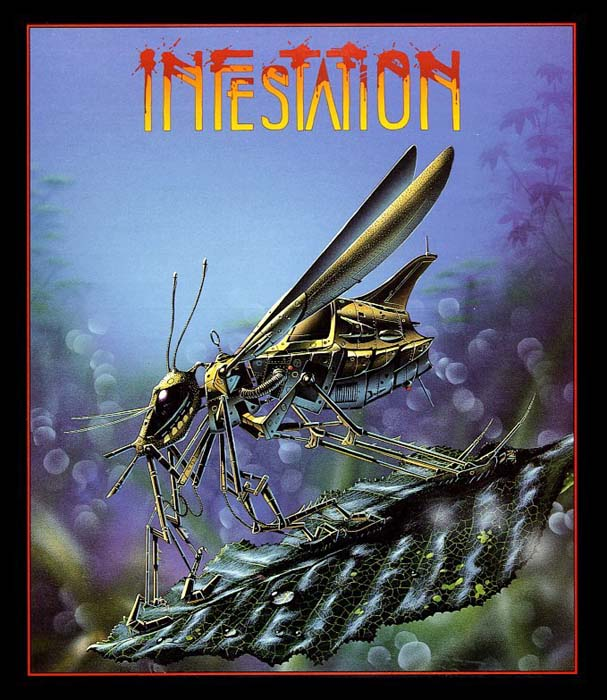 The beautiful Infestation artwork - futuristic robot insects