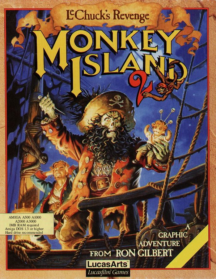 LeChuck dominates on Steve Purcell's Monkey Island 2 boxart