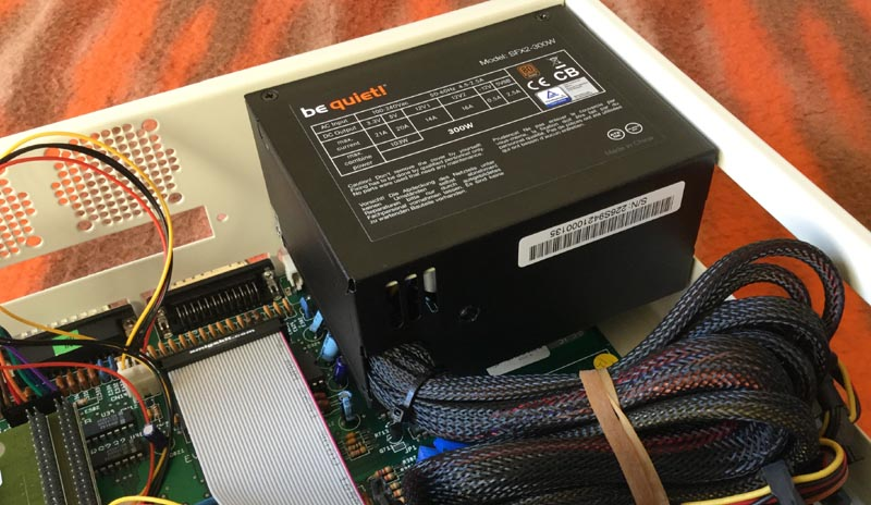 BeQuiet 300W PSU Installed in Checkmate A1500 Plus Case front view