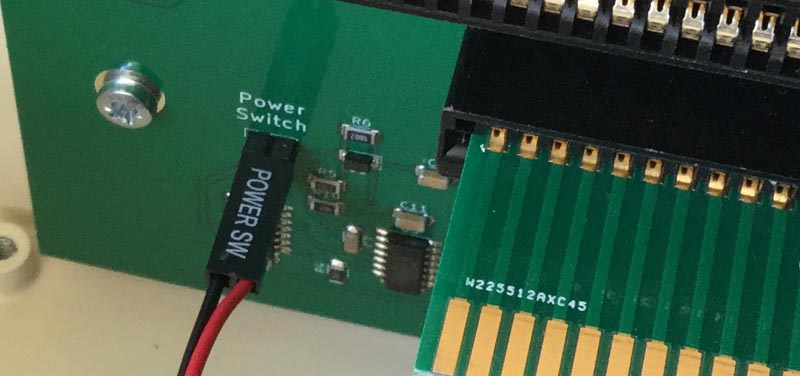 Power Switch Connected to Zorro Interface Board